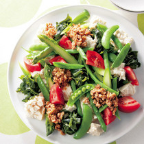 彩り野菜と豆腐の肉みそサラダ
