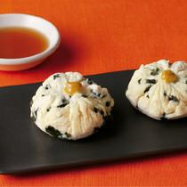 豆腐とわかめのレンジ茶巾