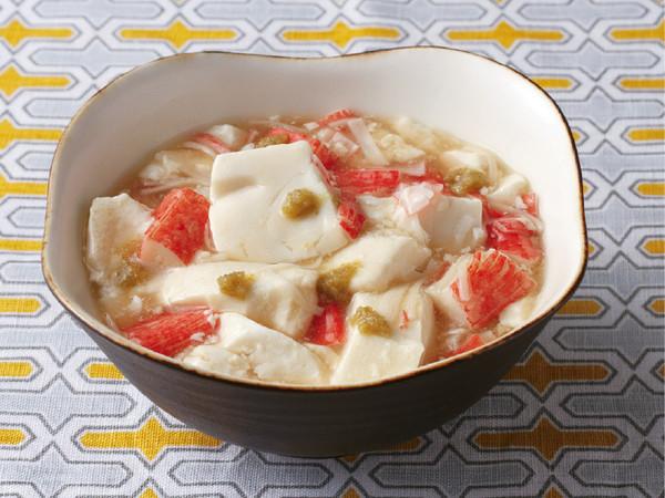 豆腐とかにかまのとろとろ煮