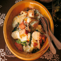 冬野菜とサーモンのカラフルグラタン