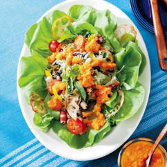 ひじき、豆、れんこんチップのデリ風サラダ