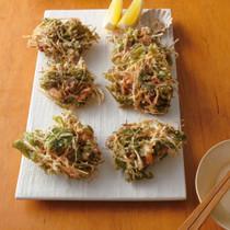 水菜と豚バラの香りかき揚げ