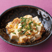 豆腐となめたけの卵とじ