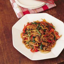 彩り野菜とひき肉のプルコギ風