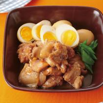 鶏肉とゆで卵の和風マーマレード煮