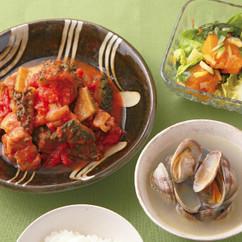 ゴーヤーと鶏肉のトマト煮