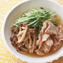 豚肉と水菜のゆずこしょう煮