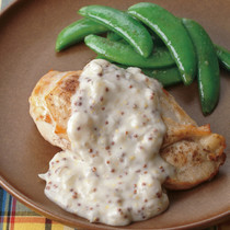 鶏胸肉のソテー マスタードクリームソース
