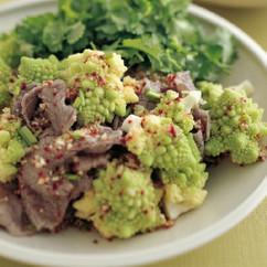 牛しゃぶとロマネスコの香菜サラダ