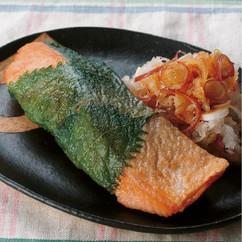 鮭のしそ巻き焼き