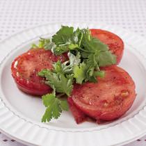 トマトの香菜のせ