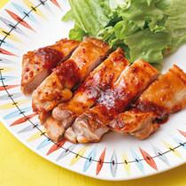鶏肉のBBQマスタードソテー