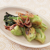 焼き青梗菜の桜えび風味