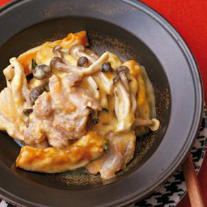 鶏肉とかぼちゃのクリーム煮