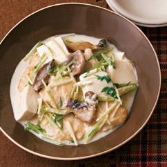 鶏肉と豆腐の豆乳煮
