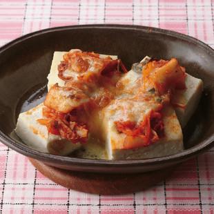 豆腐のキムチーズ焼き