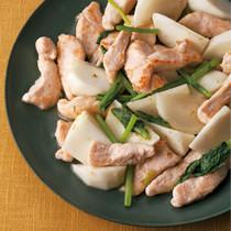 鶏肉とかぶのゆずこしょう炒め