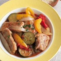 豚肉と夏野菜のカポナータ風