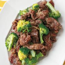 牛肉とブロッコリーのしょうが塩炒め
