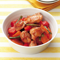 鶏肉とトマトの筑前煮風