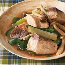 ぶりとわけぎの中華風炒め煮