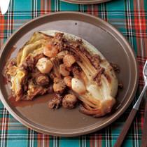 白菜ステーキ シーフードソース
