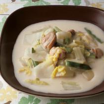 白菜と鶏肉のゆずクリーム煮