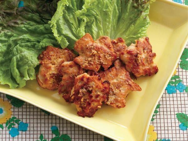 豚肉のマスタード風味焼き