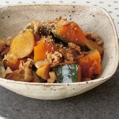 かぼちゃと豚肉の甘辛しょうが煮