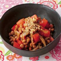 トマトのザー菜納豆あえ
