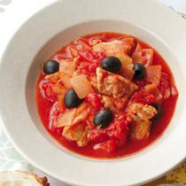 鶏肉とオリーブのトマト煮