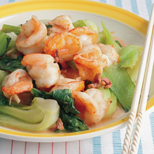 えびと青梗菜の塩辛炒め