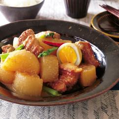 大根と豚バラ肉のみそ煮