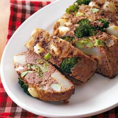 ごろごろ野菜のカレー風味ミートローフ