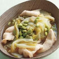キャベツと鶏肉のゆずこしょう煮