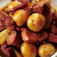 新じゃがと豚肉のはちみつしょうゆ煮