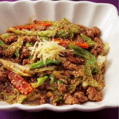 春キャベツとひき肉の中華風とろみ煮