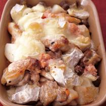 鶏肉と長いもの明太子グラタン