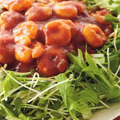 シャキシャキ野菜のえびチリサラダ