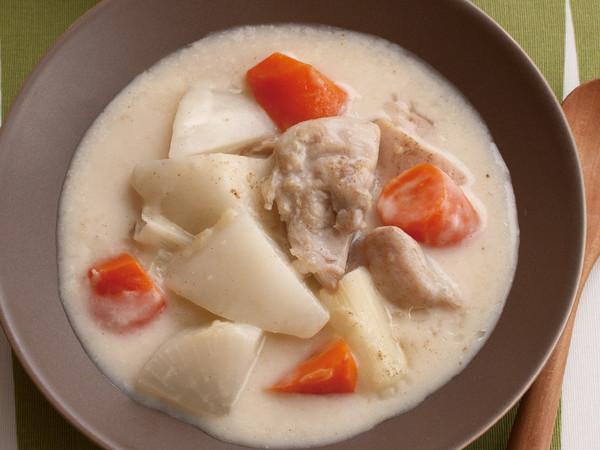 大根と鶏肉のクリームシチュー