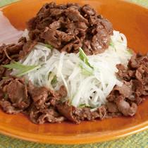 大根と牛肉の中華風おかずサラダ
