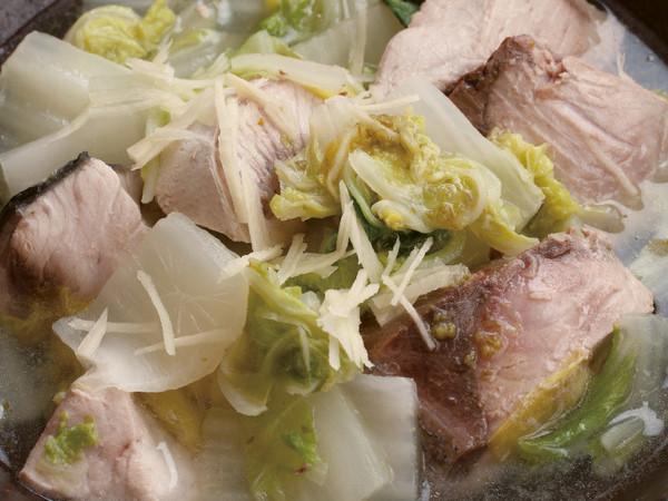 白菜とぶりのゆずこしょう塩煮