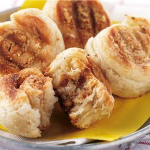 チーズとナッツのロールパイ