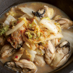 白菜とかきのピリ辛みそ炒め煮