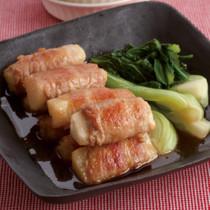 肉巻き長いもと青梗菜の和風煮