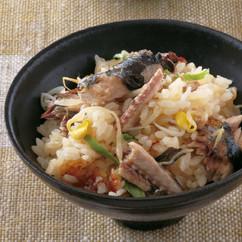 さんまと豆もやしの韓国風炊き込みご飯