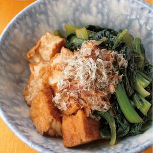 小松菜と厚揚げの和風炒め煮