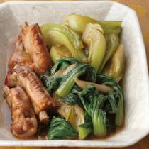 青梗菜と豚スペアリブのソース煮
