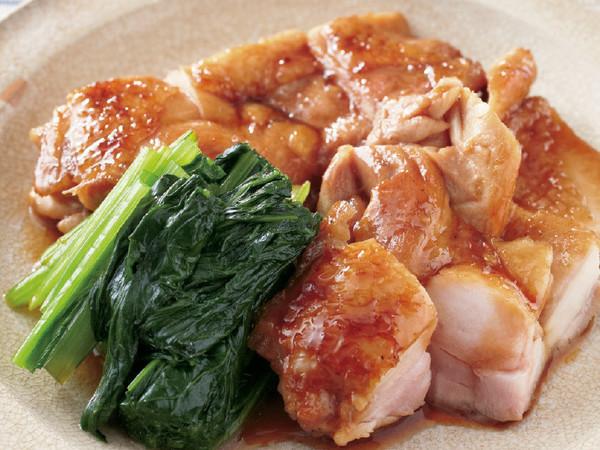 鶏と小松菜の照り焼き
