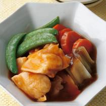 鶏肉とスナップえんどうの和風煮
